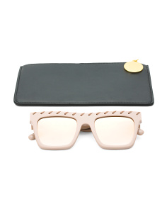 Made In Italy Square Frame Designer Sunglasses