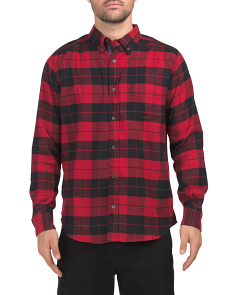Long Sleeve Soft Plaid Flannel Shirt
