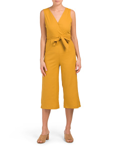 Juniors Surplus Linen Blend Gaucho Jumpsuit