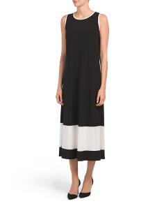 Made In Usa Color Block Maxi Dress