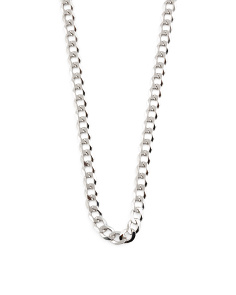 Made In Italy Sterling Silver Cuban Necklace