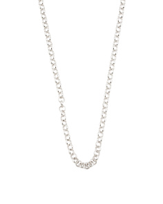 Made In Italy Sterling Silver Rolo Chain Necklace
