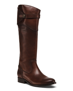 Knee High Leather Riding Boots