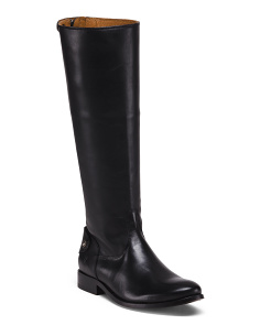 High Shaft Leather Equestrian Boots