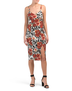 Juniors Animal Print Midi Dress