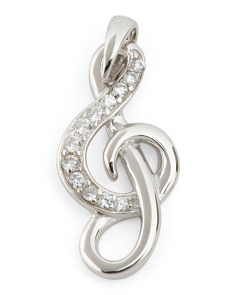 Sterling Silver G Clef Charm
