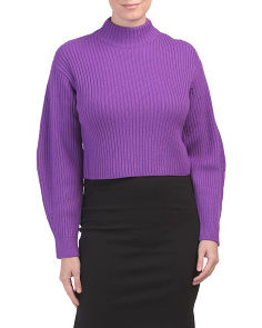 Rib Structured Merino Wool Pullover Sweater