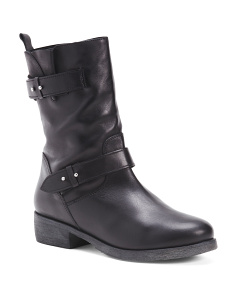 Made In Italy Mid Shaft Leather Boots