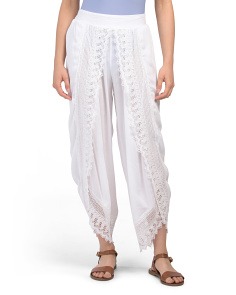Cover-up Pants With Lace Detail