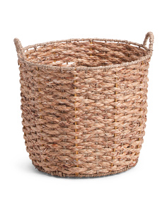 Medium Round Natural Braid Basket