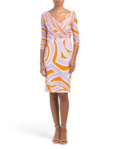 Printed Stretch Jersey Dress