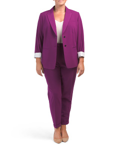 Plus Stretch Two Button Jacket Suit