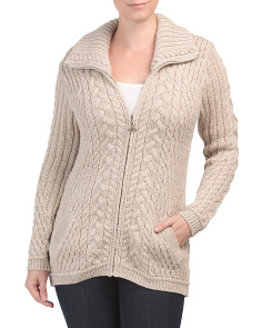 Made In Ireland Merino Wool Cardigan