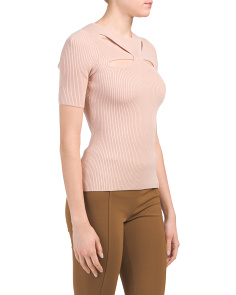 Heart And Soul Ribbed Cut Out Sweater