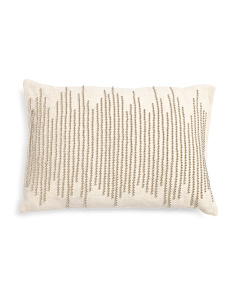 14x20 Linen Beaded Pillow