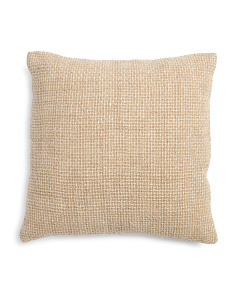 20x20 Linen Natural Textured Pillow