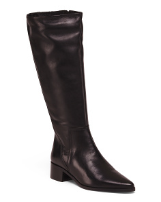 Made In Italy Knee High Leather Boots