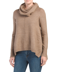 Juniors Recovery Cowl Sweater With Pintuck