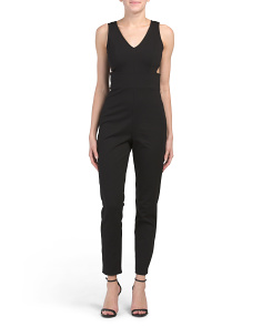 Juniors Cut Out Jumpsuit