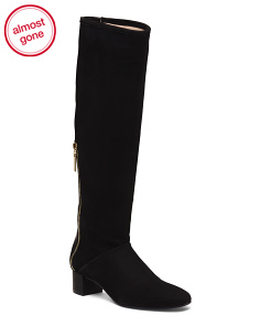 Made In Spain Knee High Block Heel Boots
