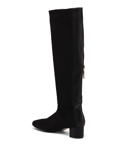 56b71143a75 ... Made In Spain Knee High Block Heel Boots