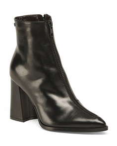 Made In Italy Mid Shaft Leather Booties
