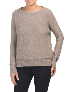 Cashmere Crew Neck Sweater With Seam Detail