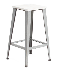Metal And Wood Stool