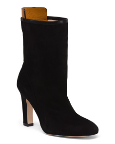 Made In Spain High Suede Booties