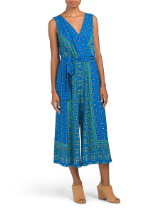 Wrap Twin Print Jumpsuit