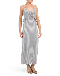 Spaghetti Strap Stripe Maxi Dress