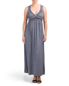 V-neck Knit Maxi Dress