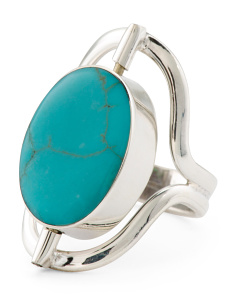 Made In Mexico Reversible Sterling Silver Stone Ring