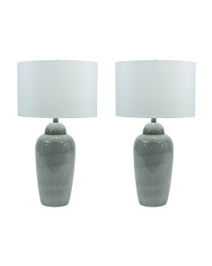 Set Of 2 Ceramic Glazes Lamps