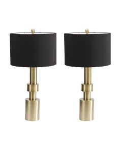 Set Of 2 Column Lamps