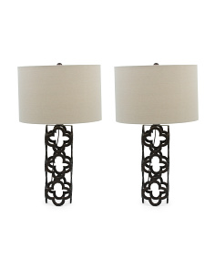Set Of 2 Quatrafoil Lamps