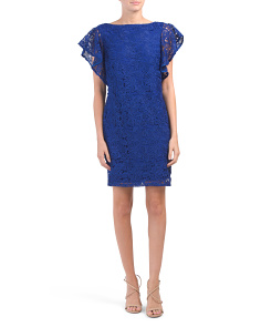 Flutter Sleeve Lace Dress