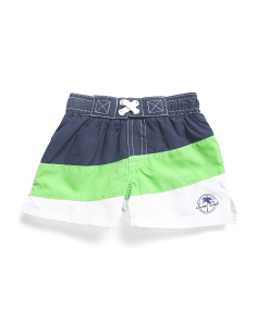Infant Boys Color Block Swim Trunks