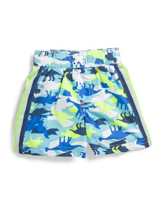 Infant Boys Dino Camo Swim Trunks