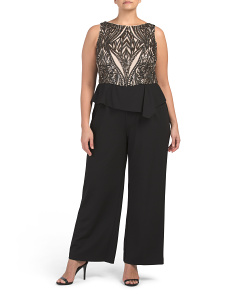 Plus Halter Jumpsuit