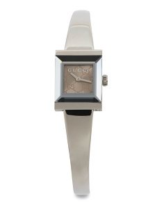 Women's Swiss Made Square Dial Bangle Watch