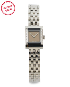 Women's Swiss Made Gframe Square Dial Petite Bracelet Watch