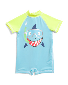 Newborn Boys Snorkeling Shark Rash Suit