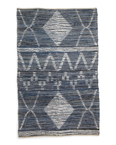 5x8 Textured Flat Weave Area Rug