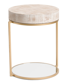 Wood And Mirrored Table
