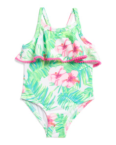 Toddler Girls Tropical One-piece Swimsuit