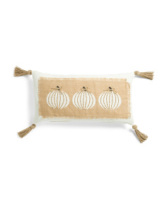 14x26 Jute Accent Pumpkins Pillow