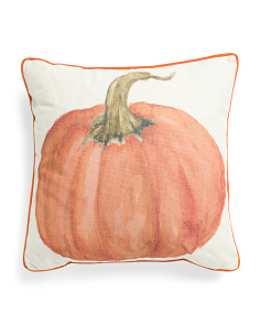 20x20 Watercolor Pumpkin Pillow