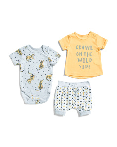 Newborn Boy 3pc Wild Side Short Set