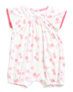 Infant Girls Cherry Romper